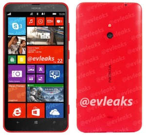 Presenteres også Lumia 1320 i morgen? (Klikk for et større bilde).